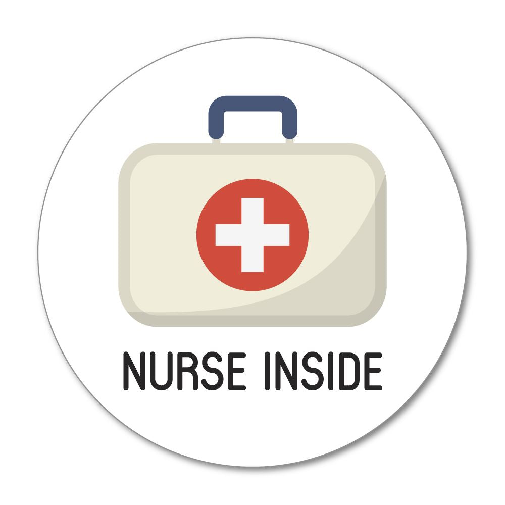 Nurse Inside Sticker Decal