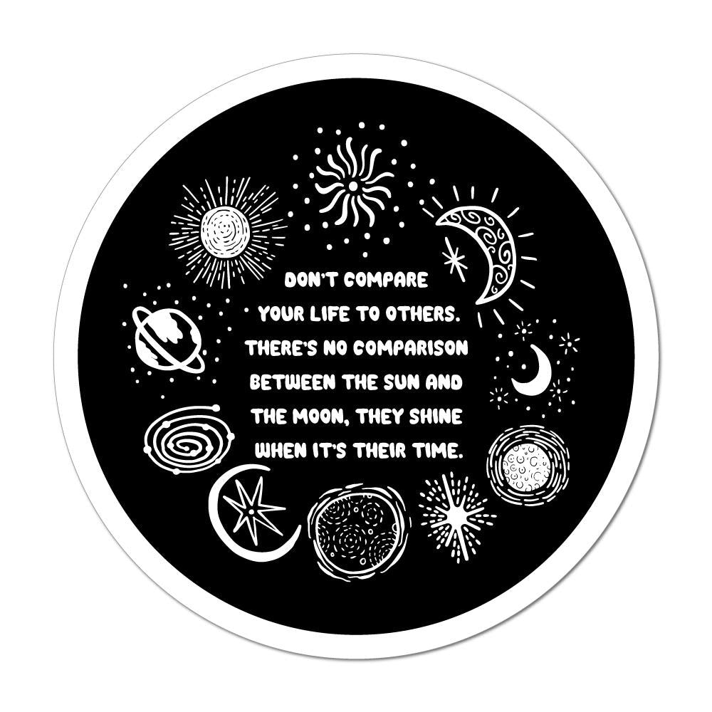 The Sun And The Moon Car Sticker Decal