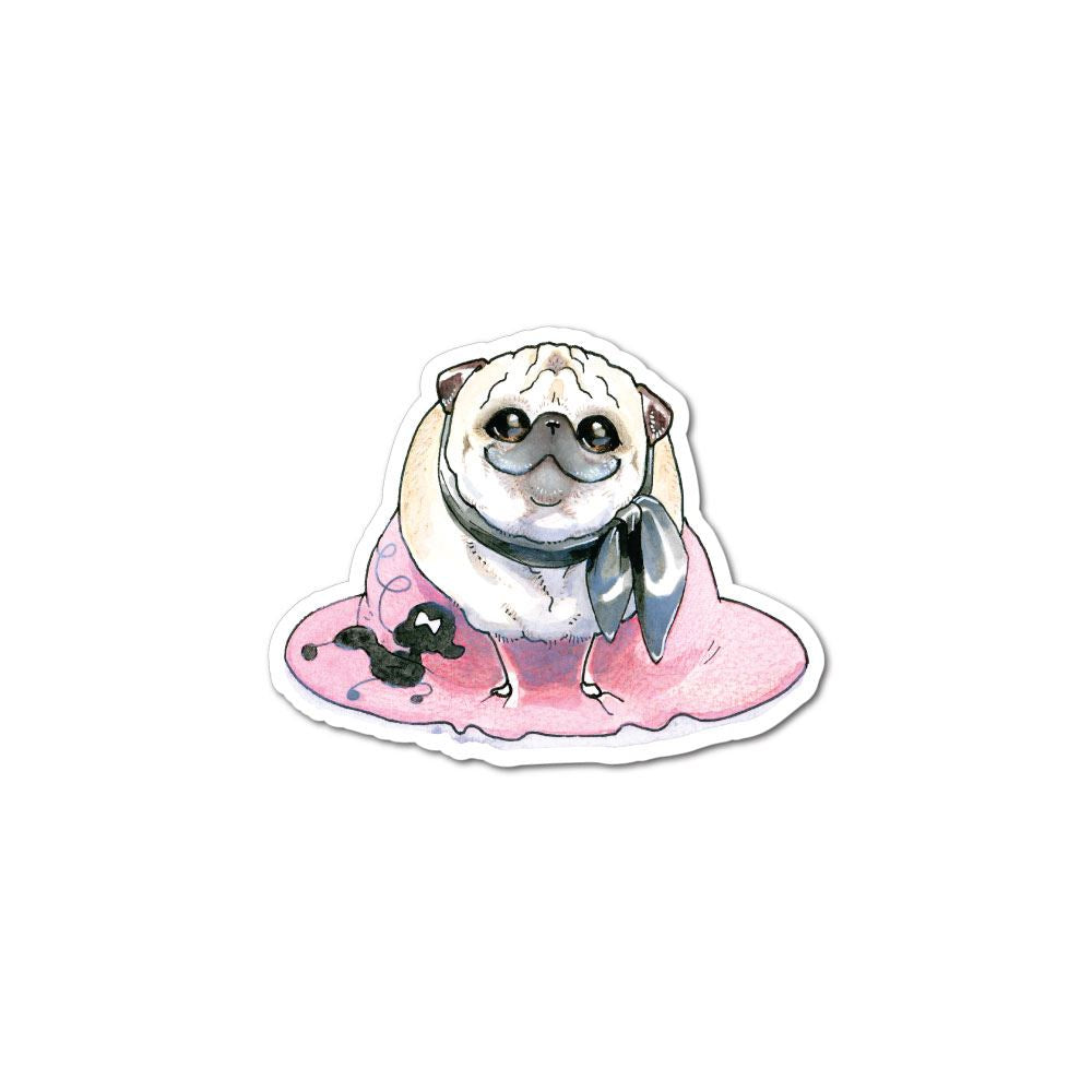 The Best Gal Pug Sticker Decal