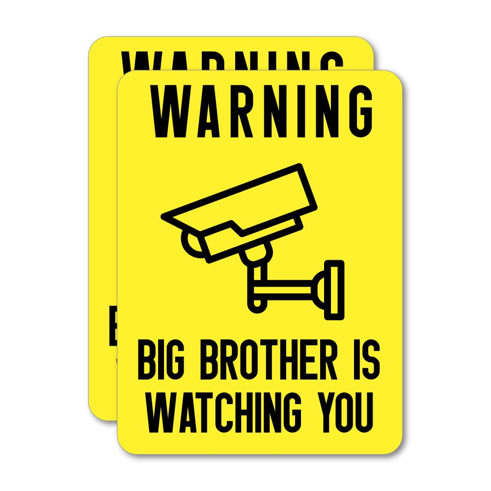 2X Big Brother Is Watching You  Sticker Decal