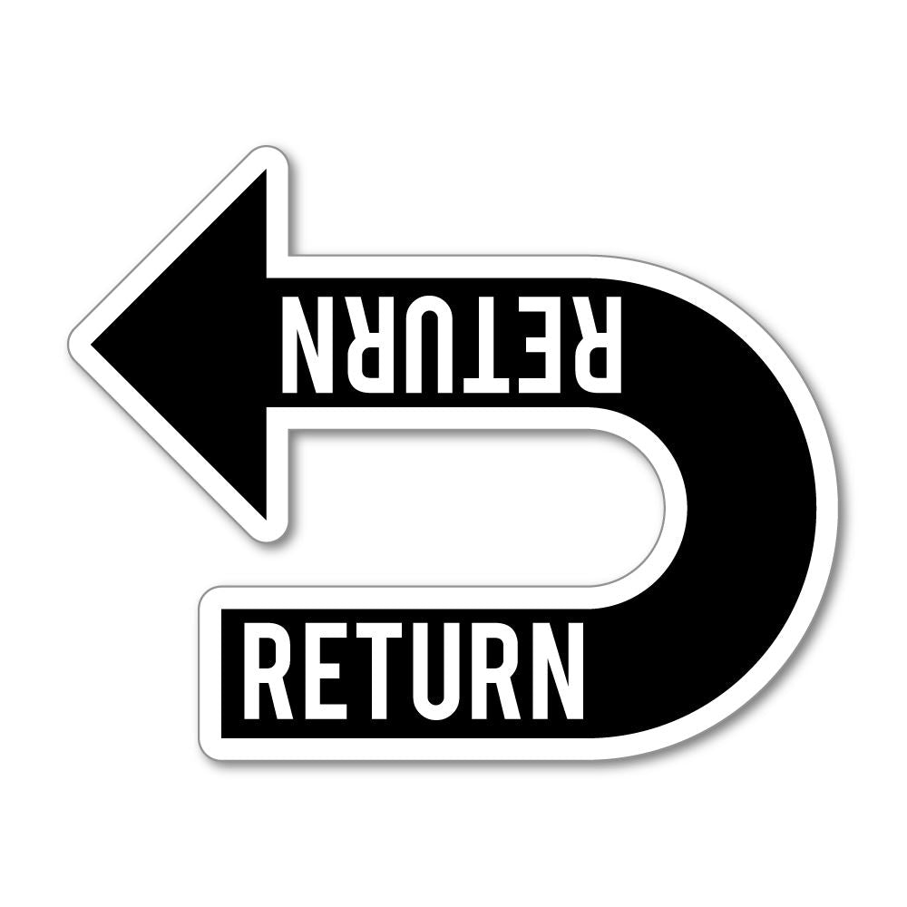 Return Recycle Sticker Decal