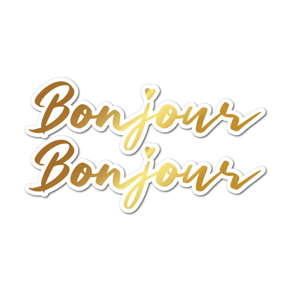 Bonjour Sticker Decal