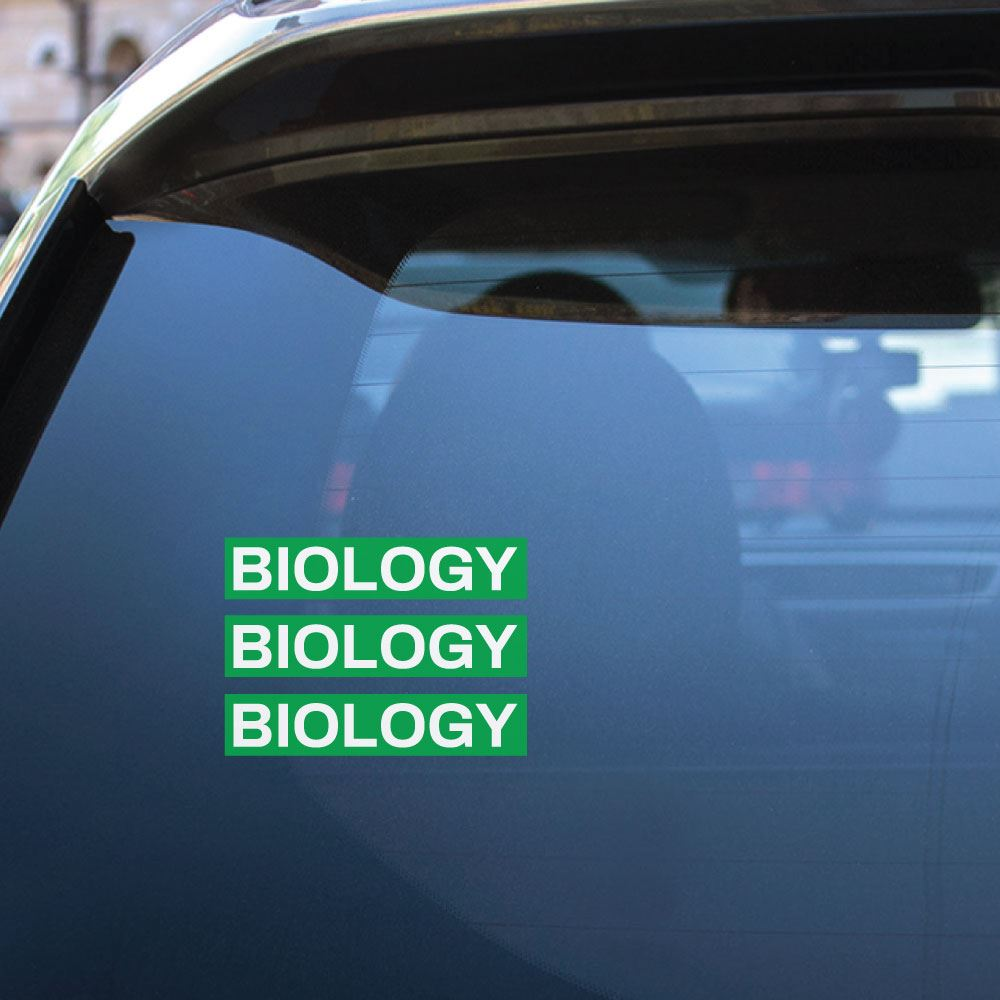 3X Biology Sticker Decal