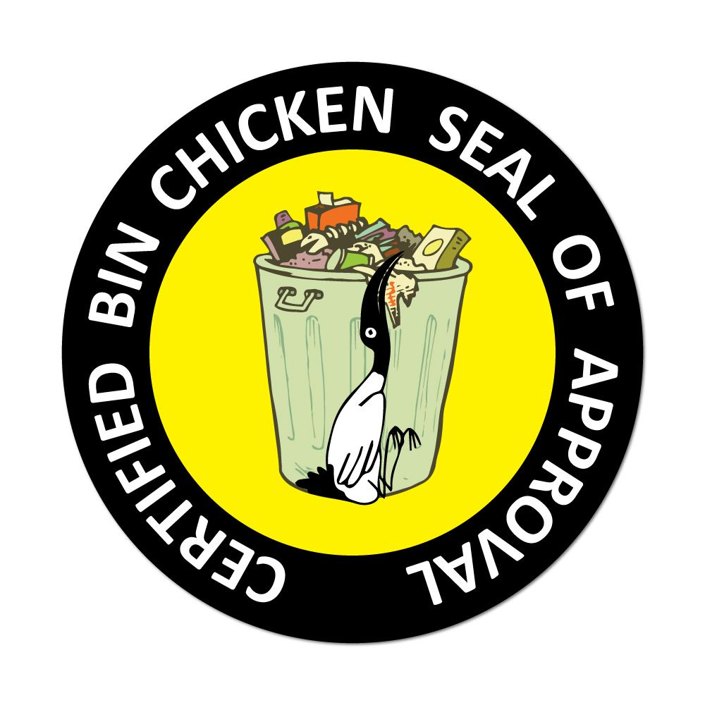 Bin Chicken Seal Of Approval Car Sticker Decal