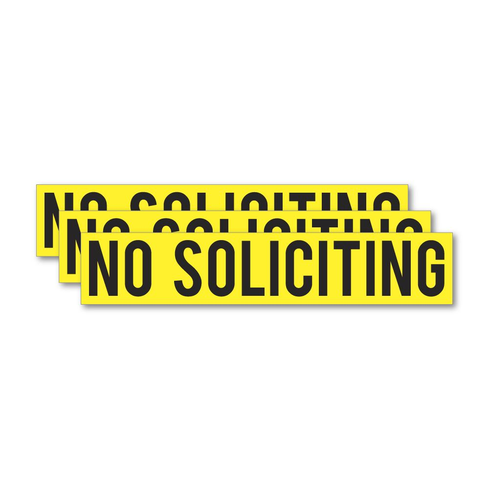 3X No Soliciting Sticker Decal