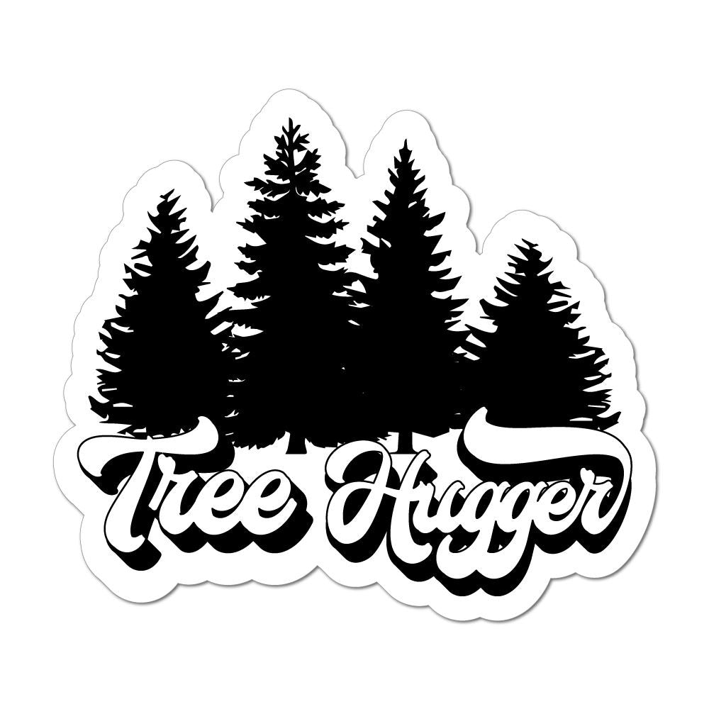 Tree Hugger Camping Nature Forest Woods Camper Adventure Car Sticker Decal