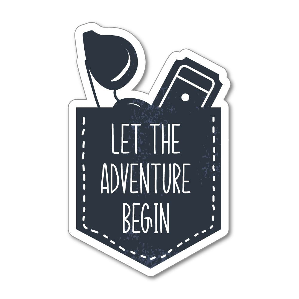 Let The Adventure Begin Sticker Decal