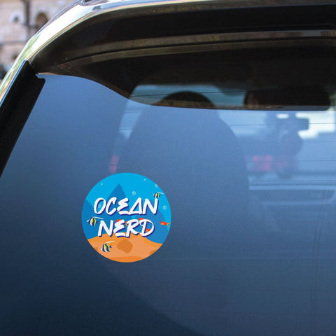 Ocean Nerd Sticker Decal
