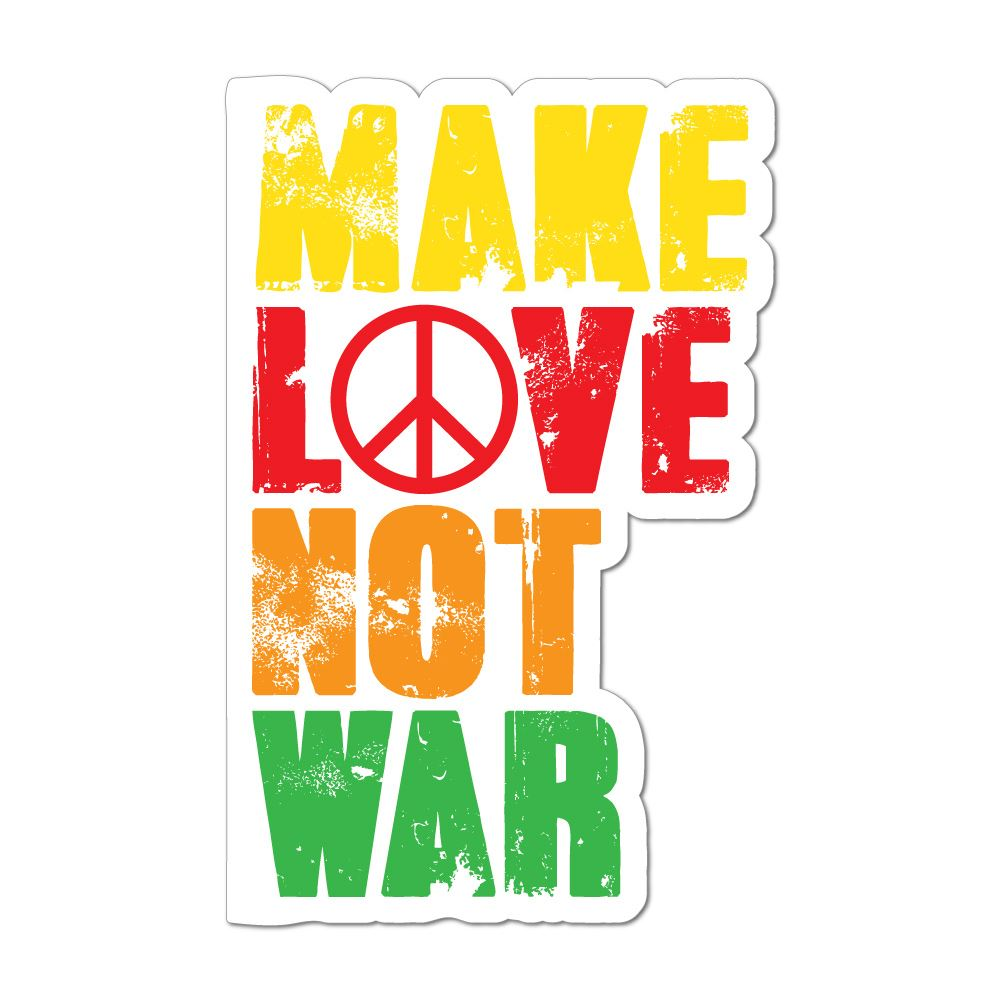 Make Love Not War Car Sticker Decal