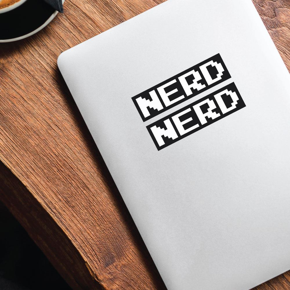 2X Nerd  Sticker Decal