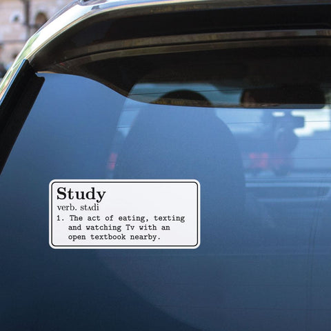 Study Sticker Decal