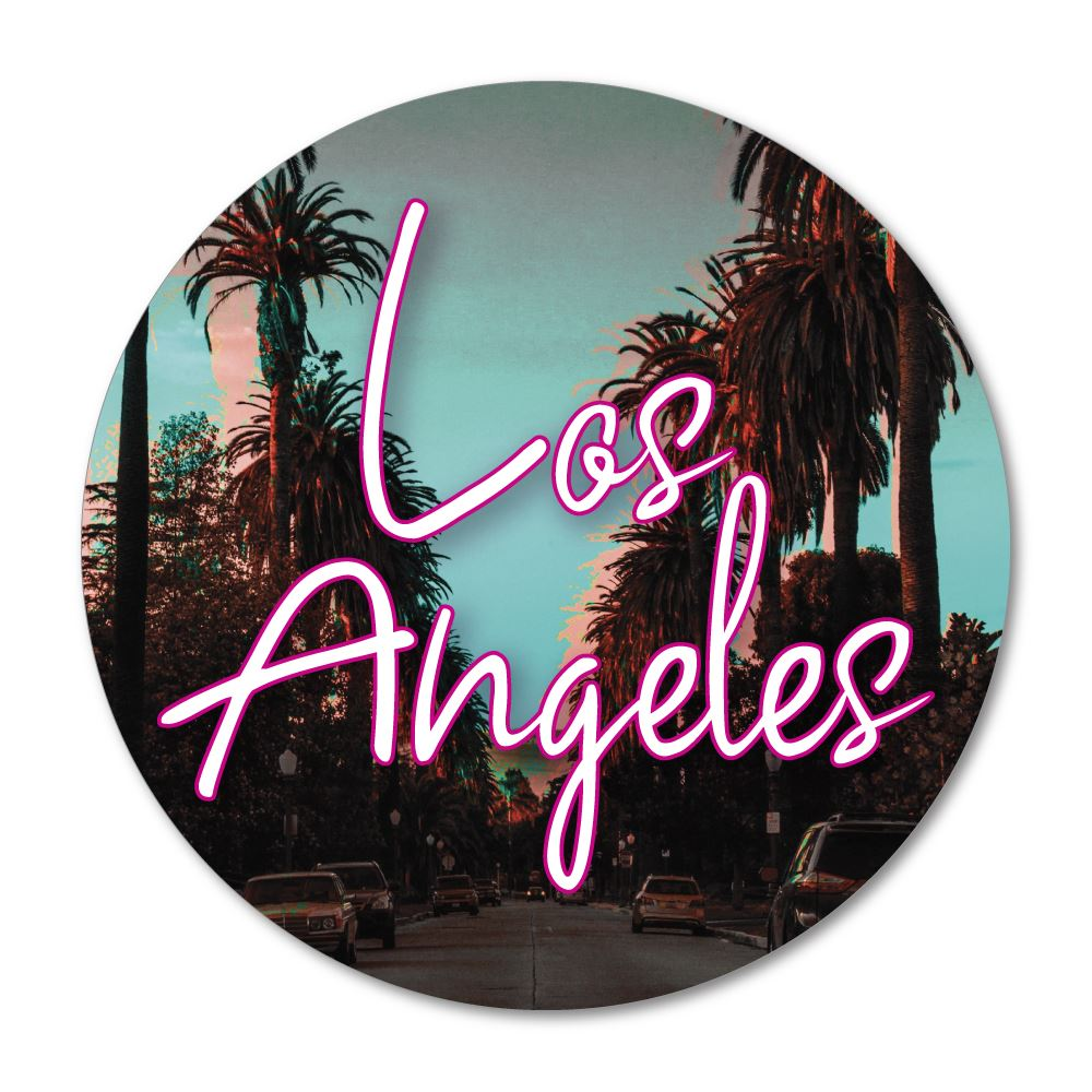 Los Angeles La Usa America Sticker Decal