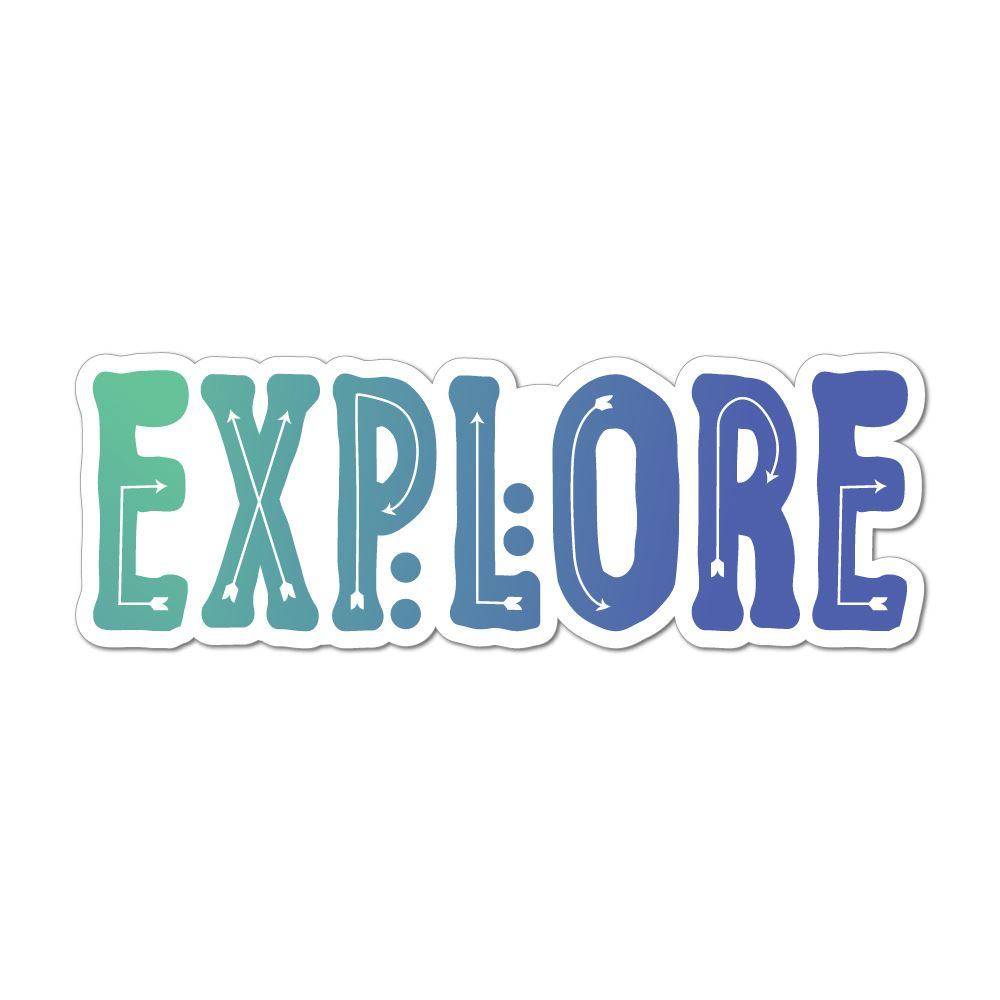 Explore Laptop Car Sticker Decal