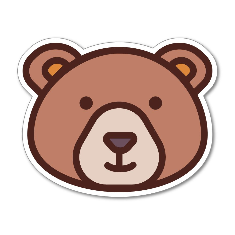 The Bear  Sticker Decal