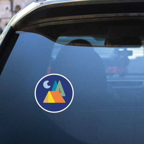 Night Camping Tent Sticker Decal