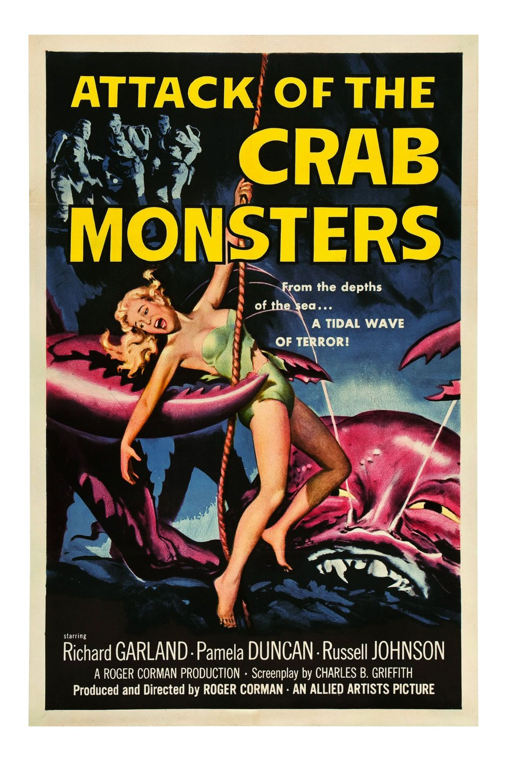 Attack of the Crab Monsters Canvas