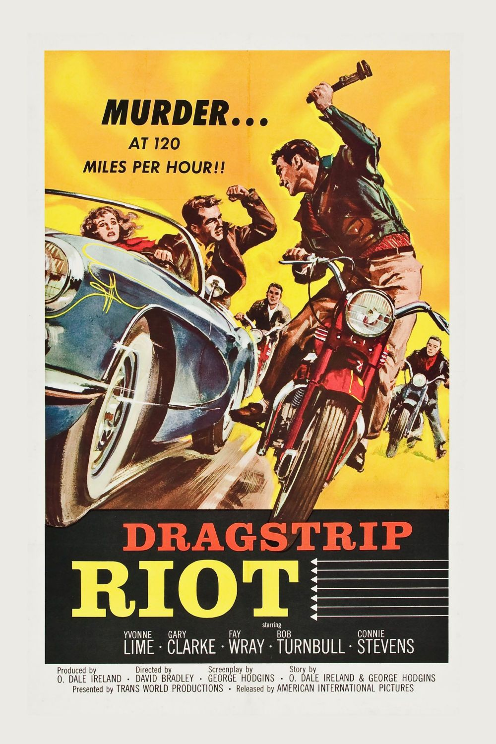 Dragstrip Riot Movie Poster Canvas