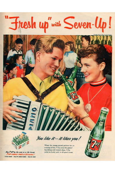 7Up Vintage Advertising Poster Canvas