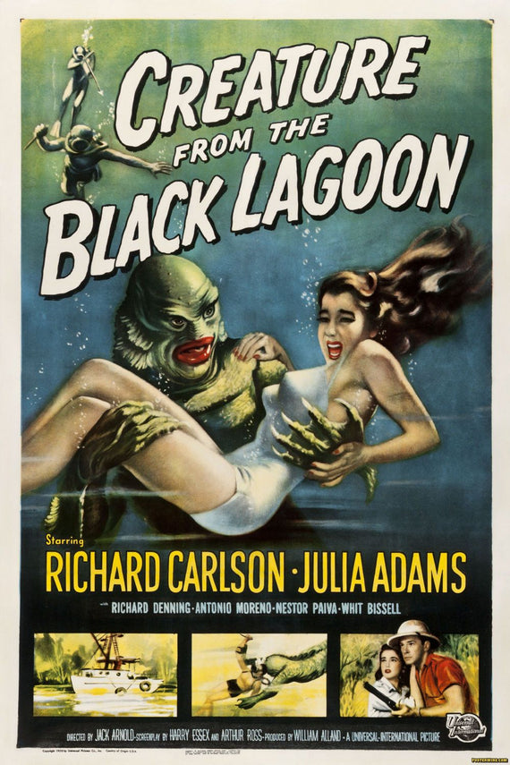 Creature from the black lagoon poster Canvas