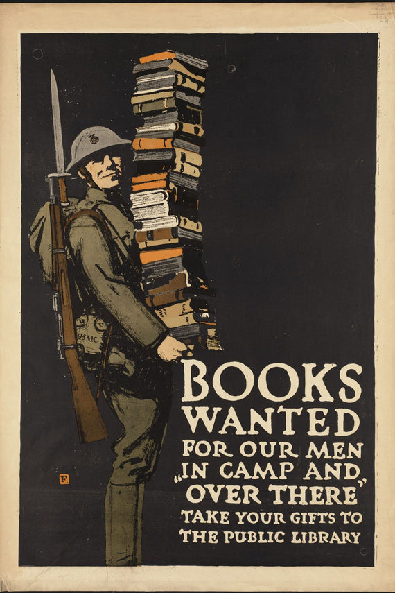 Books Wanted Propaganda Poster Canvas