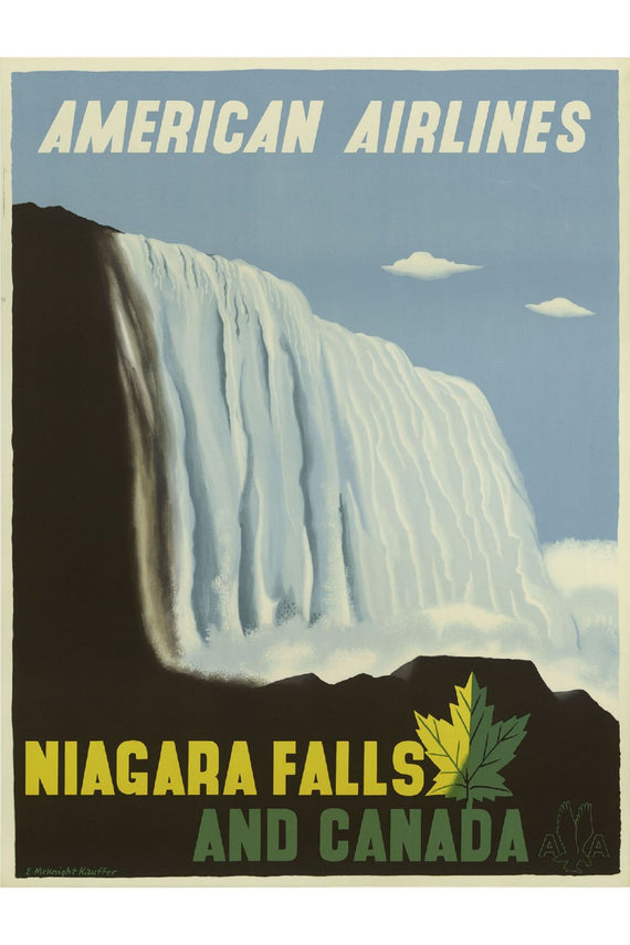 American Airlines Niagara Falls Poster Canvas