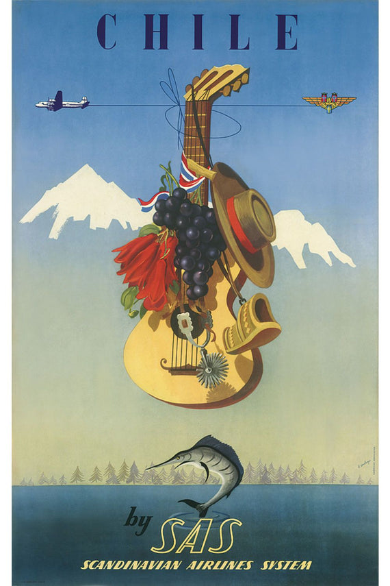 Chile by SAS Poster Canvas