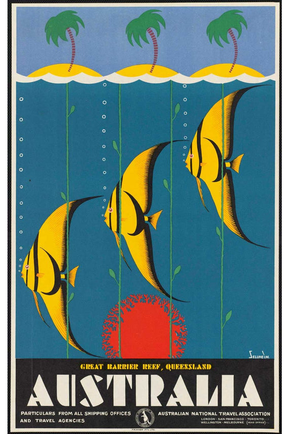 Australia Fish Poster Canvas