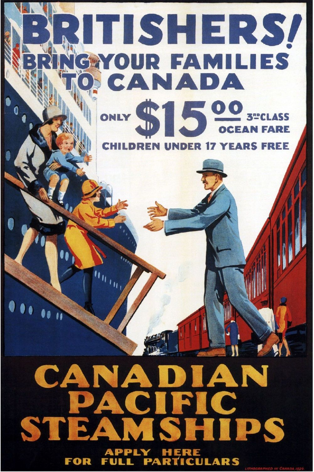 Canadian Pacific Steamships Poster Canvas