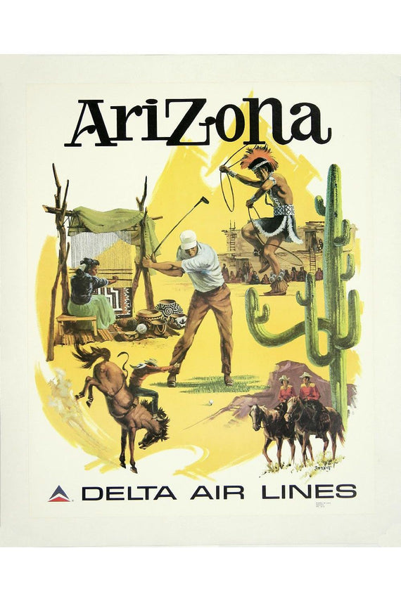 Arizona Delta Air Lines Poster Canvas