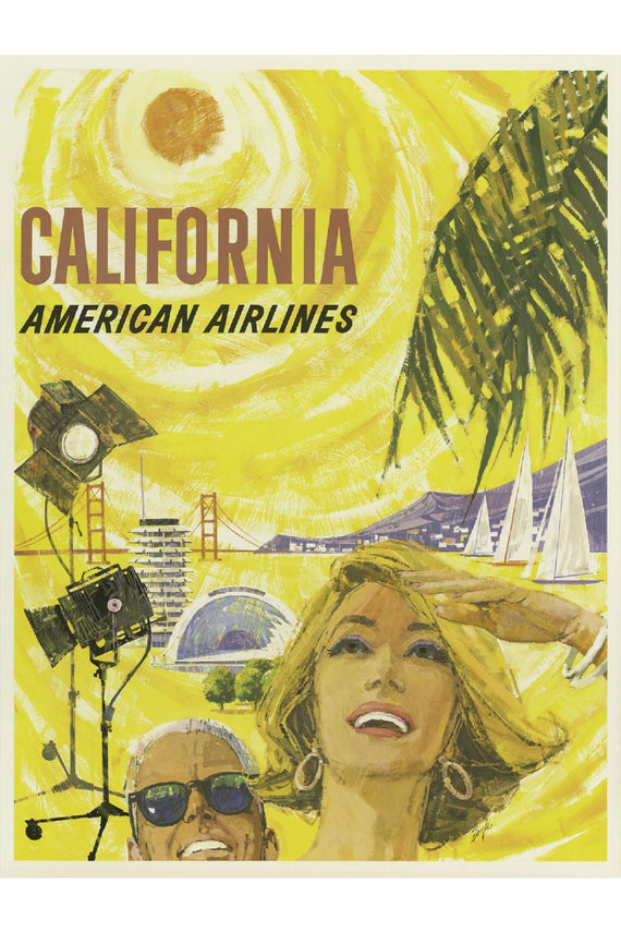 California American Airlines Poster Canvas