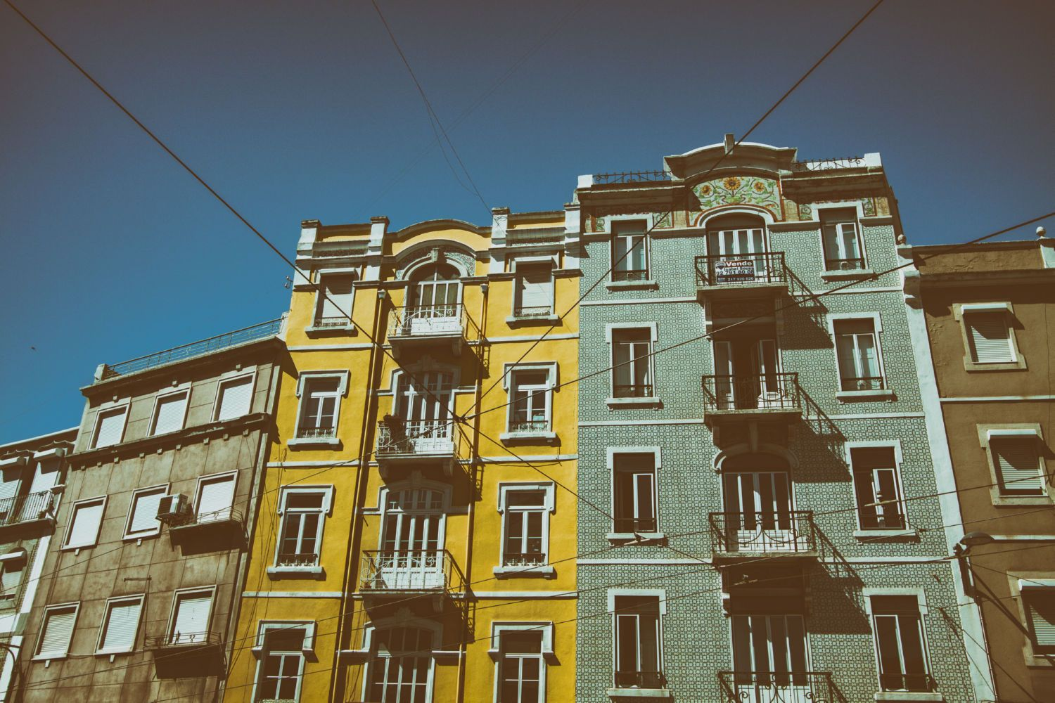Colourful Buildings in Lisbon Canvas