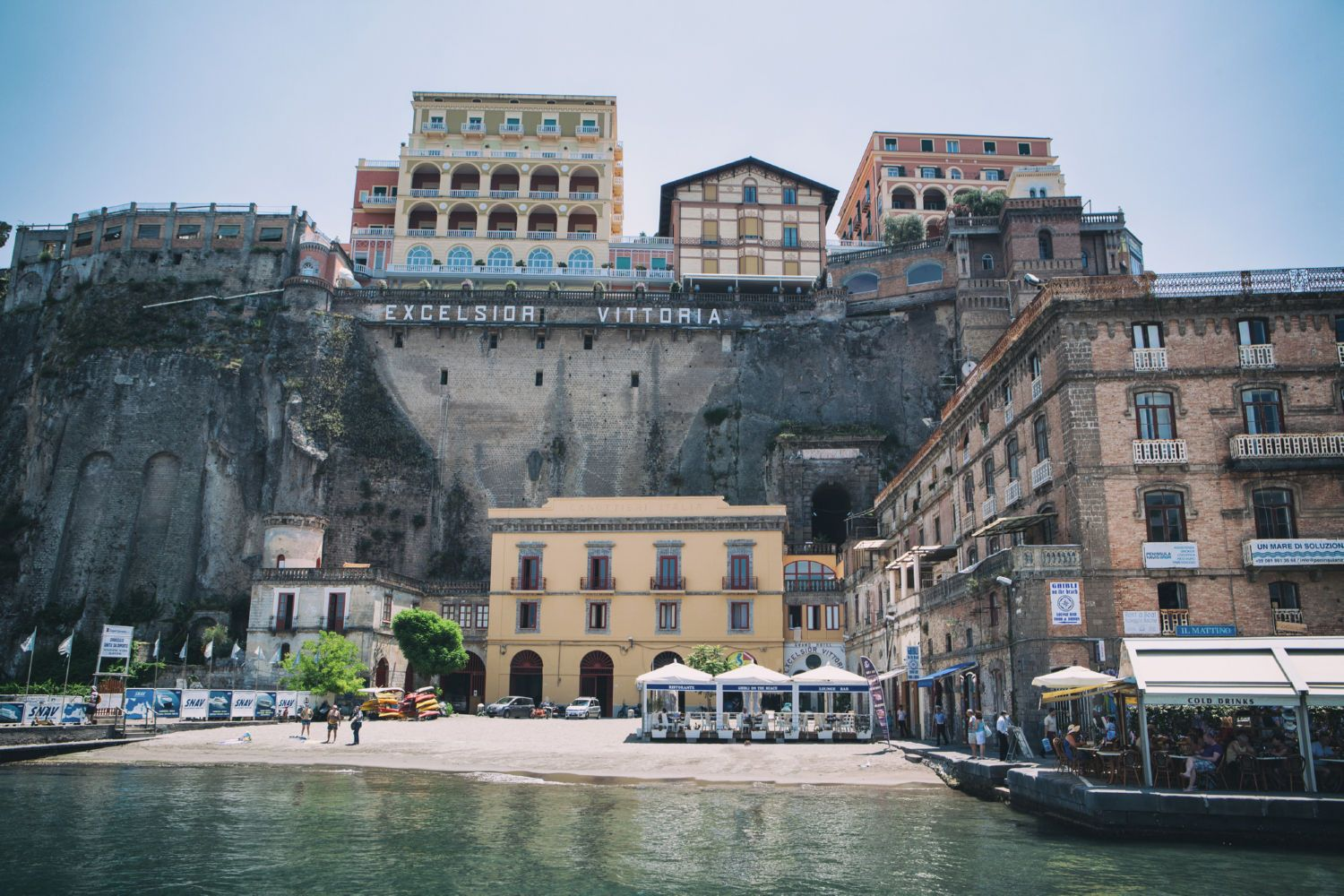 A view at the coast of Sorrento Italy Canvas