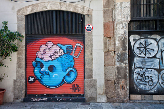 Brain Food Street Art in Barcelona Canvas