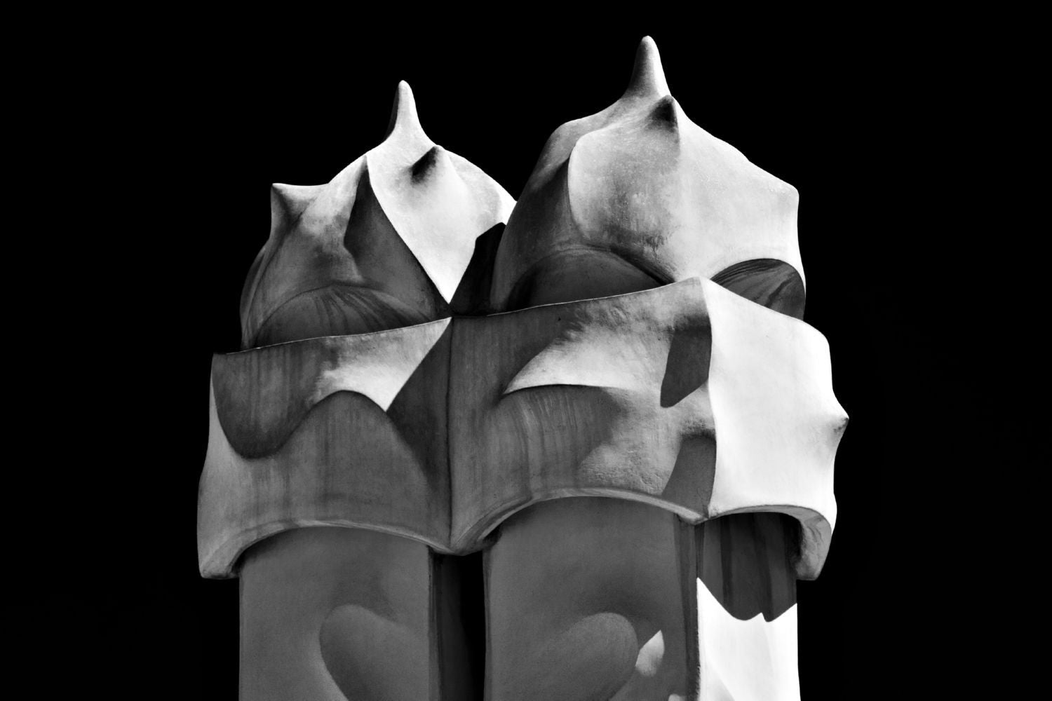 Casa Mila Sculptures In Barcelona Canvas