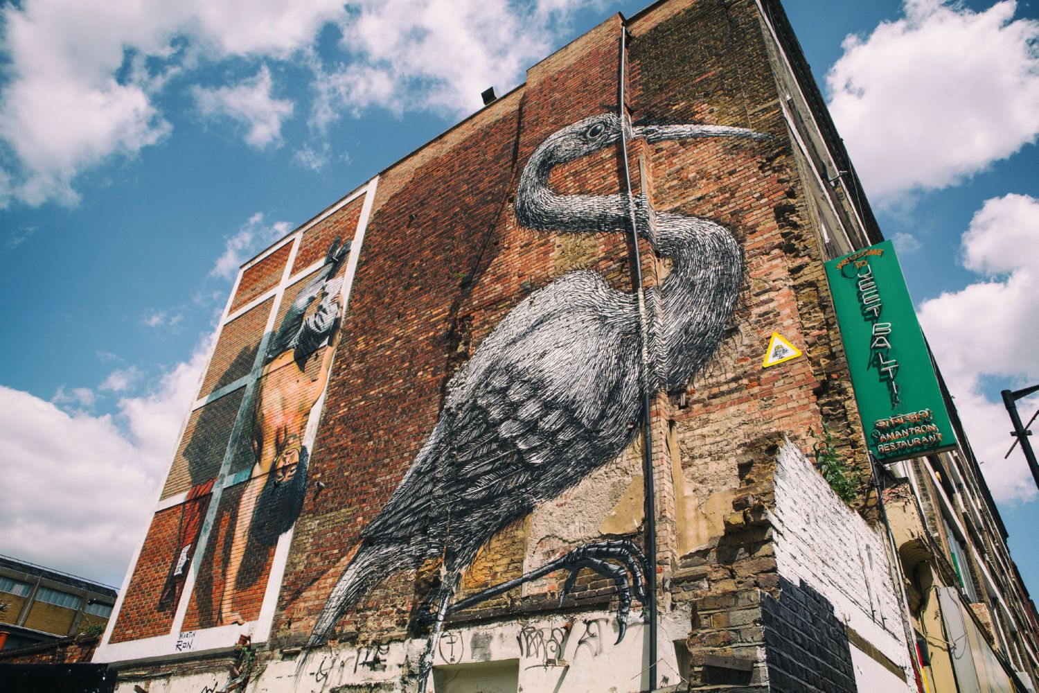 Bird Painting in East London Canvas