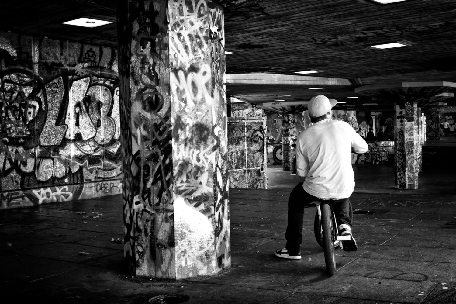 BMX Rider In Southbank Canvas