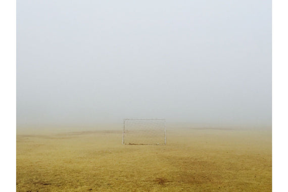 Abandonned soccer goal Canvas
