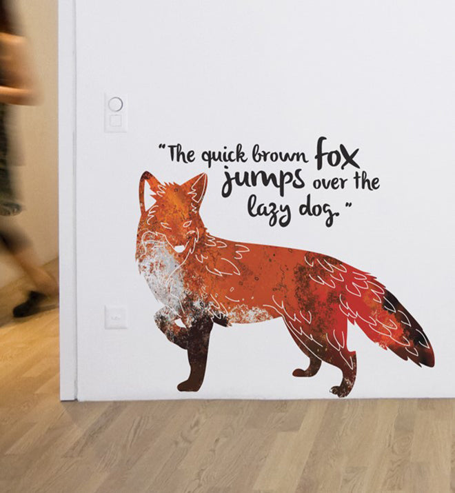 Quick Brown Fox Wall Sticker