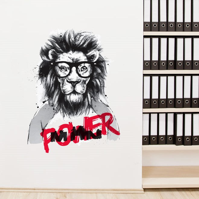 Power Lion Wall Sticker
