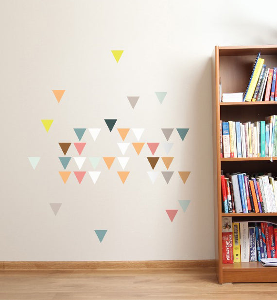 Colourful Triangles Wall Sticker