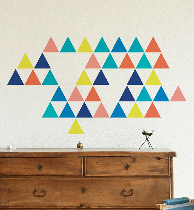 Pyramid Block Wall Sticker