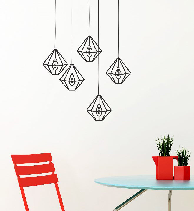 Diamond Lamps Wall Sticker