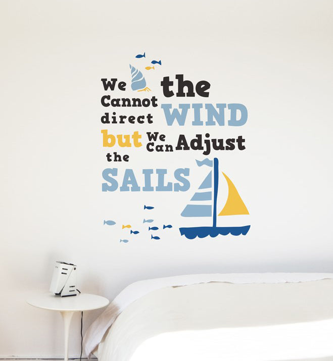 Adjust The Sails Wall Sticker