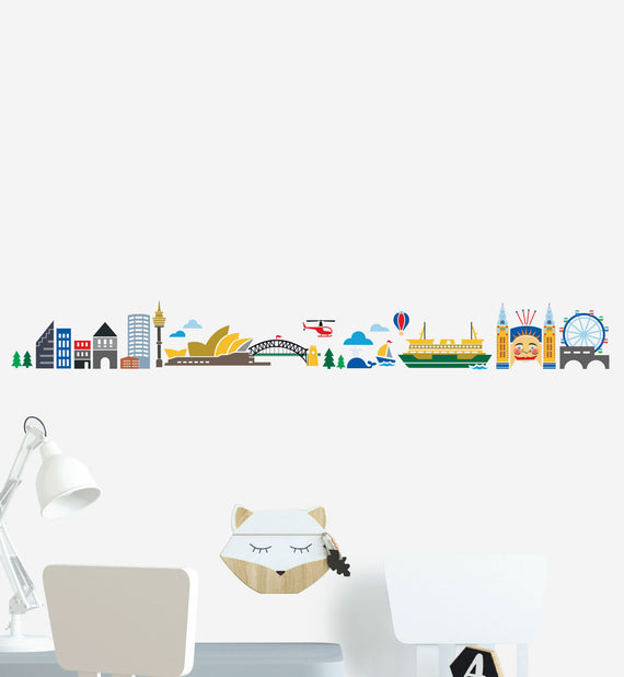 Sydney Skyline Illustration Wall Sticker