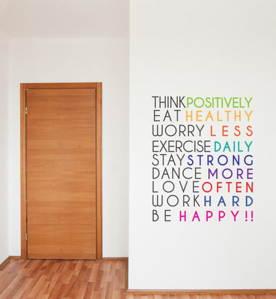 Think Positively Wall Sticker