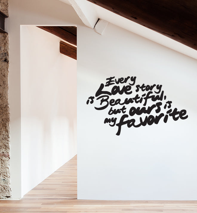 Our Story Wall Sticker