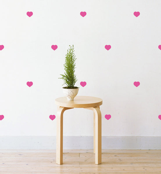 Mini Love Hearts Pattern Wall Sticker