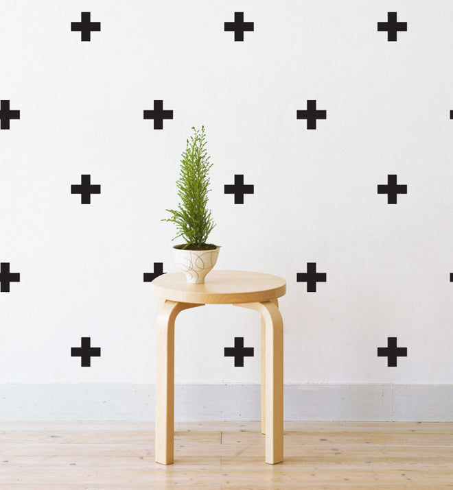 Mini Crosses Pattern Wall Sticker