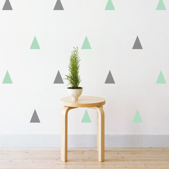 Pastel Triangles Pattern Wall Sticker
