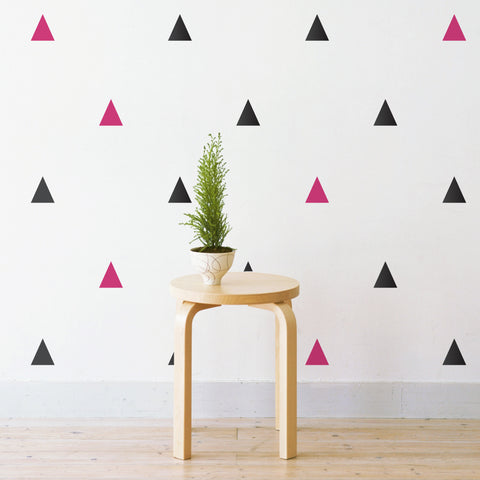Party Triangles Pattern Wall Sticker